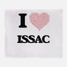 I Love Issac (Heart Made from Love w Throw Blanket