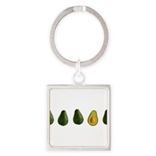 Cute Green vegetables Square Keychain
