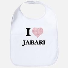 I Love Jabari (Heart Made from Love words) Bib