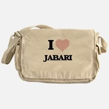 I Love Jabari (Heart Made from Love Messenger Bag
