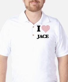 I Love Jace (Heart Made from Love words T-Shirt
