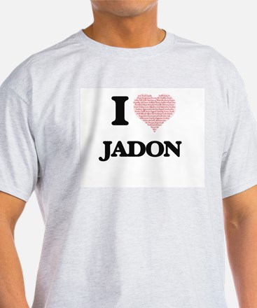 I Love Jadon (Heart Made from Love words) T-Shirt