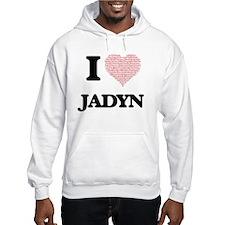 I Love Jadyn (Heart Made from Lo Jumper Hoody