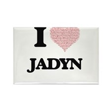 I Love Jadyn (Heart Made from Love words) Magnets