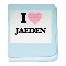 I Love Jaeden (Heart Made from Love w baby blanket