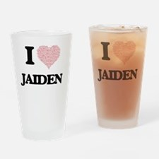 I Love Jaiden (Heart Made from Love Drinking Glass