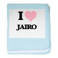 I Love Jairo (Heart Made from Love wo baby blanket