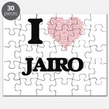 I Love Jairo (Heart Made from Love words) Puzzle
