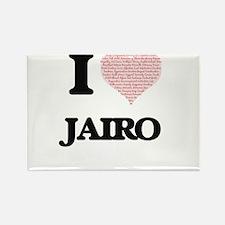 I Love Jairo (Heart Made from Love words) Magnets