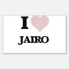 I Love Jairo (Heart Made from Love words) Decal