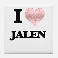 I Love Jalen (Heart Made from Love wo Tile Coaster