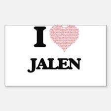 I Love Jalen (Heart Made from Love words) Decal