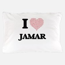 I Love Jamar (Heart Made from Love wor Pillow Case