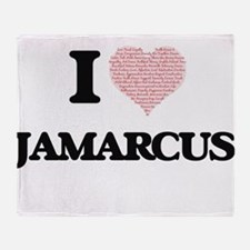 I Love Jamarcus (Heart Made from Lov Throw Blanket