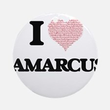 I Love Jamarcus (Heart Made from Lo Round Ornament