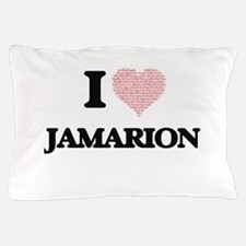 I Love Jamarion (Heart Made from Love Pillow Case