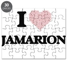 I Love Jamarion (Heart Made from Love words Puzzle