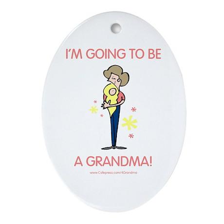 Soon To Be Grandma Oval Ornament