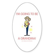 Soon To Be Grandma Oval Bumper Stickers