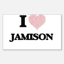 I Love Jamison (Heart Made from Love words Decal
