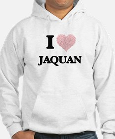 I Love Jaquan (Heart Made from L Hoodie