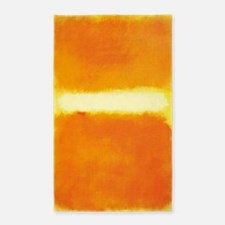 ROTHKO ORANGE AND WHITE LIGHT Area Rug