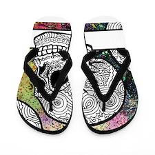 Sugar Skulls Color Splash Designs #WITH Flip Flops
