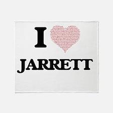 I Love Jarrett (Heart Made from Love Throw Blanket
