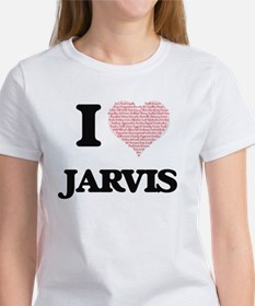 I Love Jarvis (Heart Made from Love words) T-Shirt