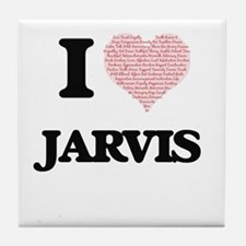 I Love Jarvis (Heart Made from Love w Tile Coaster