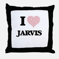 I Love Jarvis (Heart Made from Love w Throw Pillow