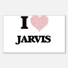 I Love Jarvis (Heart Made from Love words) Decal