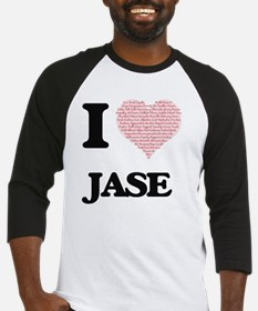 I Love Jase (Heart Made from Love Baseball Jersey