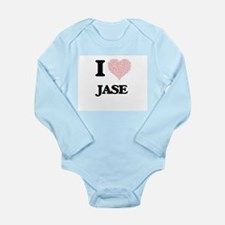 I Love Jase (Heart Made from Love words) Body Suit
