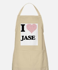 I Love Jase (Heart Made from Love words) Apron