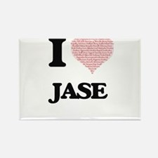 I Love Jase (Heart Made from Love words) Magnets