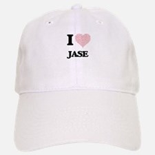 I Love Jase (Heart Made from Love words) Baseball Baseball Cap