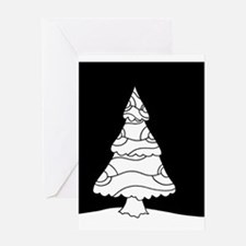 Trees at Night Series Greeting Cards