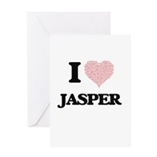 I Love Jasper (Heart Made from Love Greeting Cards