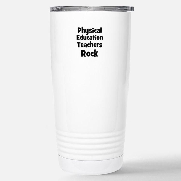 Cute Teachers rock Travel Mug