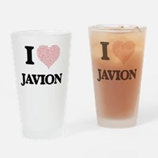 I Love Javion (Heart Made from Love Drinking Glass