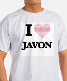 I Love Javon (Heart Made from Love words) T-Shirt