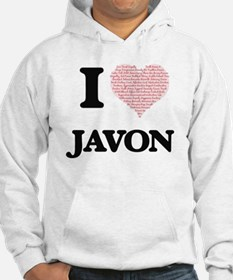 I Love Javon (Heart Made from Lo Hoodie