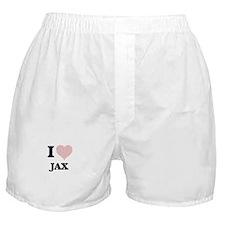 I Love Jax (Heart Made from Love word Boxer Shorts