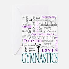 Cute Gymnast Greeting Cards (Pk of 20)