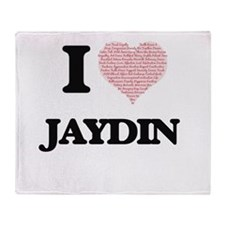 I Love Jaydin (Heart Made from Love Throw Blanket