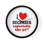 December 31st Wall Clock