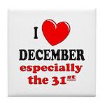 December 31st Tile Coaster
