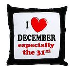 December 31st Throw Pillow
