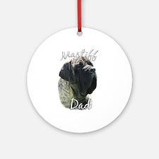 Mastiff(brindle)Dad2 Ornament (Round)